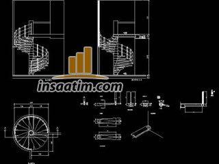 Helezonik-Spiral-Sarmal Merdiven Çizimi