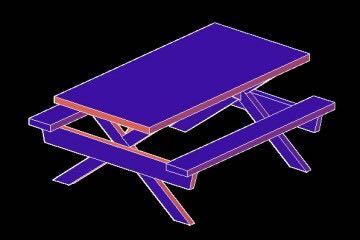 Piknik Masası Çizimi