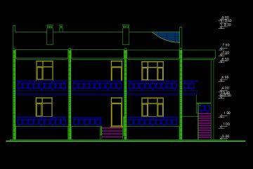 Mimari villa çizimi