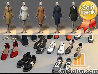 3ds Max Giysi Çizimleri (3D Model)