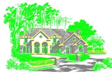 Ağaçlar Arasında Villa Çizimi