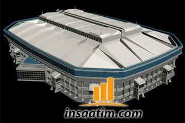 3ds Max Stadyum Çizimi - 1