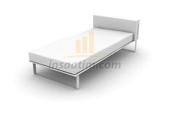 3ds max yatak çizimi 1 (Tek Kişilik)