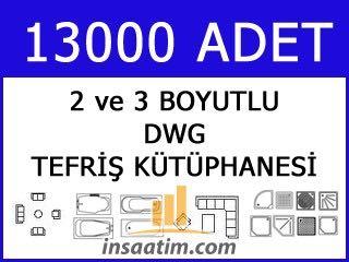 Autocad Tefriş Kütüphanesi (13.000 Adet - Dwg)