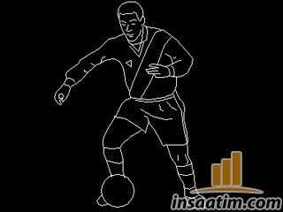 2D Futbolcu Çizimi (dwg)