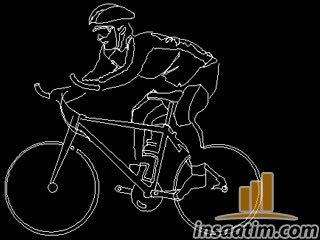2D Bisiklet Sürücüsü Çizimi (dwg)