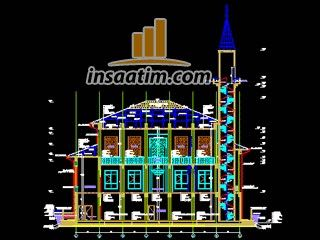 Cami ve Şadırvan Mimari Projesi 2 (dwg)