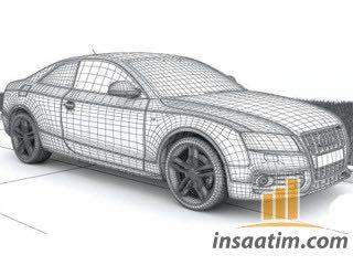 3D Model Audi S5 Çizimi