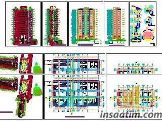 Autocad Mimari Proje Örnek Çizimi