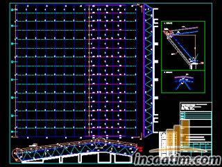 Çelik Uzay Kafes Çatı Projesi (dwg)