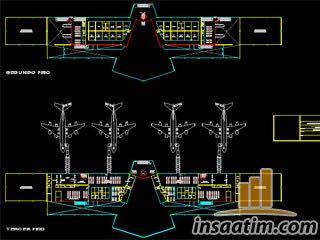 Havalimanı Mimari Proje (Dwg)