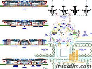 Havalimanı Autocad Projesi (Planlar, Kesitler ve Vaziyet Planı)