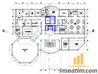 Otel Projesi ve Tefriş Çizimleri (dwg)