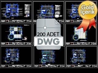 200 Adet Konut Projesi (.dwg)