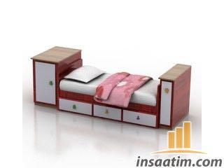 Tekli Yatak (Baza) Çizimi - 3D Model