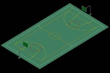 3D Basketbol Sahası Çizimi