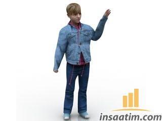 Çocuk Çizimi - 3D Model