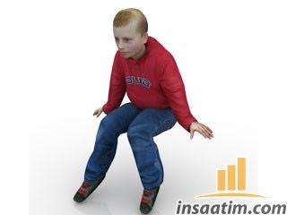 Erkek Çocuk Çizimi - 3D Model