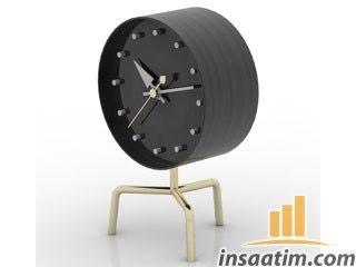 Masa Saati Çizimi - 3D Model