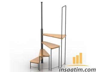 Daire İçi Merdiven Çizimi - 3D Model