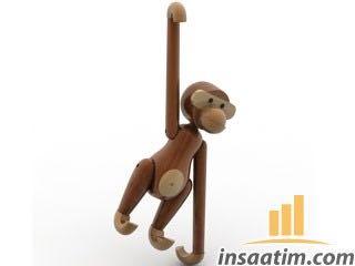Ahşap Maymun Oyuncak Çizimi - 3D Model