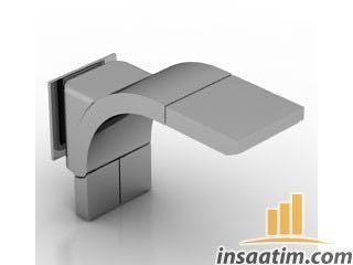 Modern Lavabo Bataryası Çizimi - 3D Model