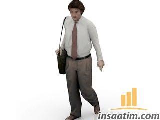 İş Adamı Çizimi - 3D Model