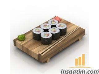 Sushi Çizimi - 3D Model