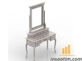 Makyaj Masası Çizimi - 3D Model