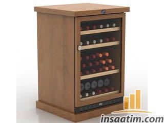 Şarap Dolabı Çizimi - 3D Model