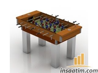 Futbol Masası Çizimi - 3D Model
