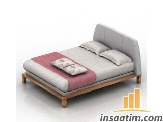 İkili Yatak Çizimi - 3D Model