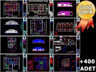 ABD\'li Mimarlar Tarafından Çizilmiş Konut Projeleri (dwg) - 400 Proje