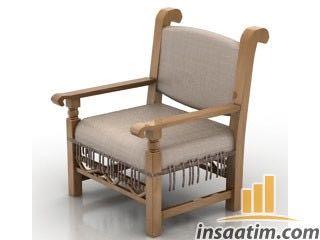 Sandalye Çizimi - 3D Model