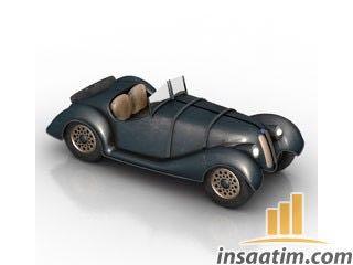 Klasik Model Araba Çizimi - 3D Model