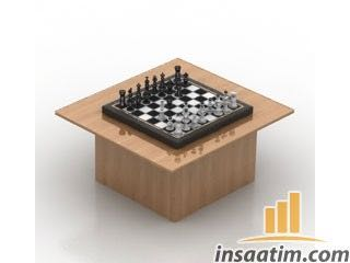 Satranç Çizimi - 3D Model