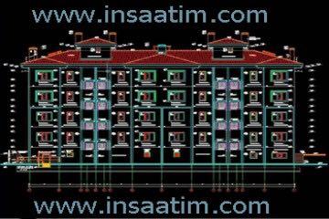 5 Katlı Bina Mimari Projesi