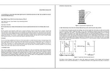 Betonarme Boşluklu Perde Sistemlerde Bağ Elemanı Eşdeğer Rijitliği İçin İstatistiksel Bir Analiz