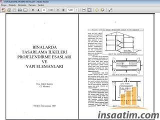 Binalarda Tasarlama İlkeleri Projelendirme Esasları ve Yapı Elemanları