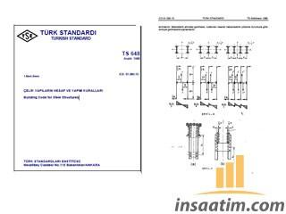 TS 648 - Çelik Yapıların Hesap ve Yapım Kuralları
