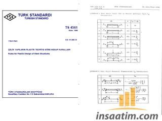 TS 4561 - Çelik Yapıların Plastik Teoriye Göre Hesap Kuralları