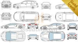 152 Adet Otomobil Çizimi (2d – dwg)