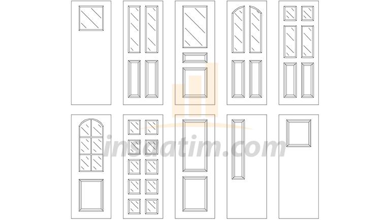 2d Kapı Görünüş Çizimleri (dwg)