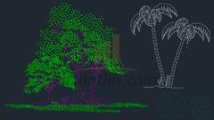 2D Ağaç Tefrişleri (dwg) – 300 adet