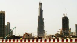 Dünyanın en yüksek binası Burj Khalifa'nın inşaat fotoğrafları