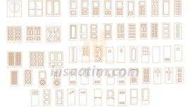 63 Adet 2D Kapı Çizimi (dwg)
