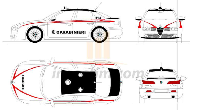 8 Adet Farklı Alfa Romeo Marka Otomobil Çizimi (dwg)