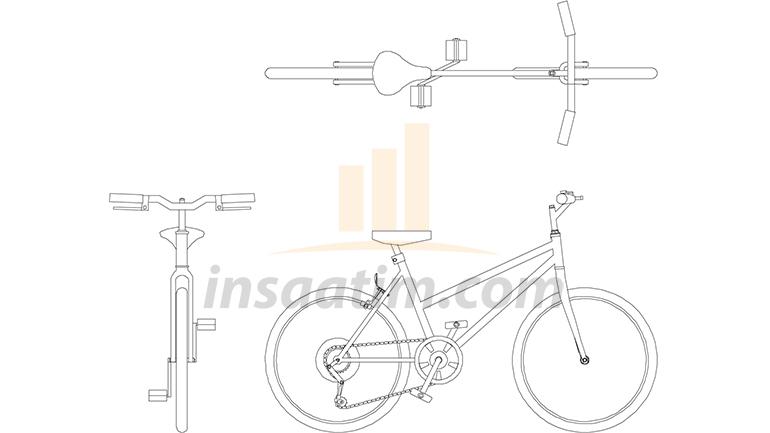 2D Bisiklet Çizimi (dwg)