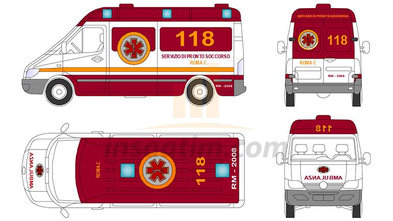Ambulans Çizimi 1 (dwg)