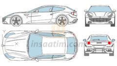 Ferrari FF Çizimi (dwg)